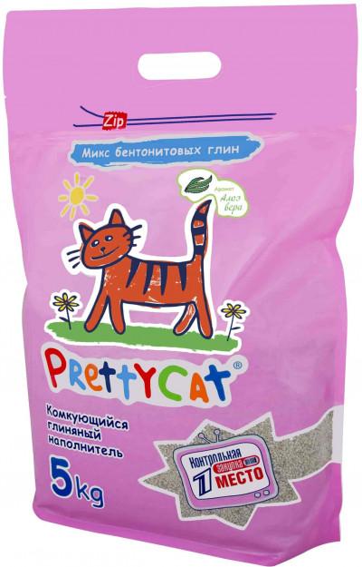 """PrettyCat наполнитель комкующийся для кошачьих туалетов """"Euro Mix"""" 5 кг с ароматом алоэ"""