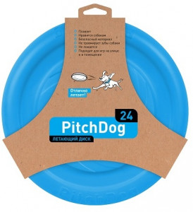 -PitchDog летающий диск d 24 см, голубой