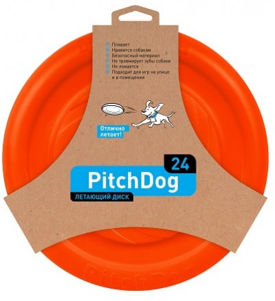 -PitchDog летающий диск d 24 см, оранжевый