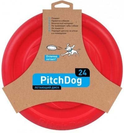 -PitchDog летающий диск d 24 см, красный