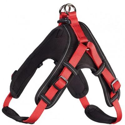 Hunter шлейка для собак Neopren Vario Quick XL (79-100)/2,5 см нейлон/неопрен красный/черный