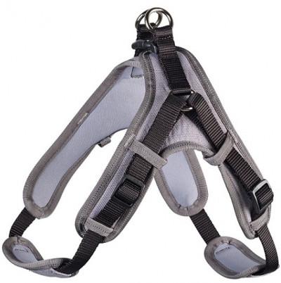 Hunter шлейка для собак Neopren Vario Quick L (67-80)/2,5 см нейлон/неопрен черный/серый