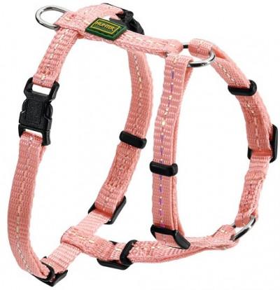 -Hunter шлейка для собак Tripoli 32-44 см, нейлон св. розовая, светоотражающая