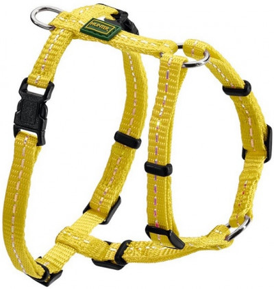 Hunter шлейка для собак Tripoli 32-44 см, нейлон желтая, светоотражающая