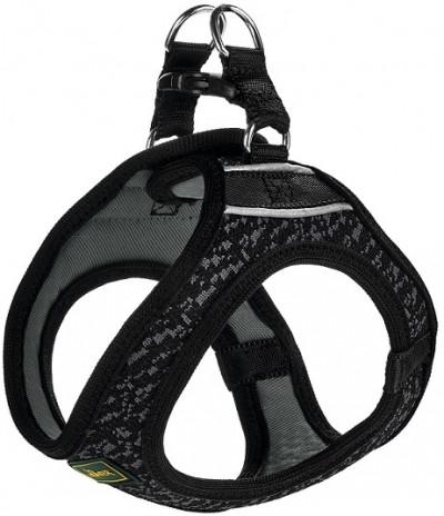 -Hunter шлейка для собак Hilo Soft Comfort 33-36 см, сетчатый текстиль, черная