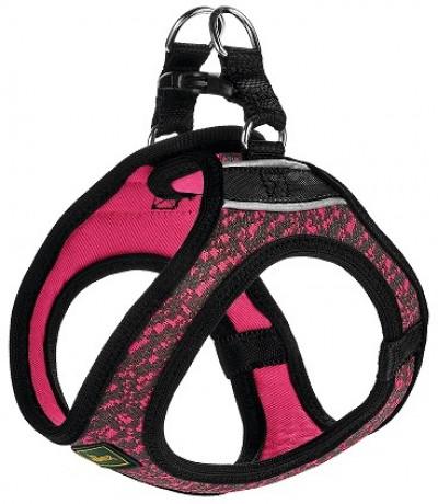 -Hunter шлейка для собак Hilo Soft Comfort 33-36 см, сетчатый текстиль, розовая