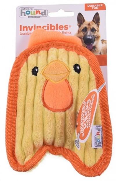 -ОН игрушка для собак Invinc Mini Цыпленок 17 см без наполнителя арт.67805