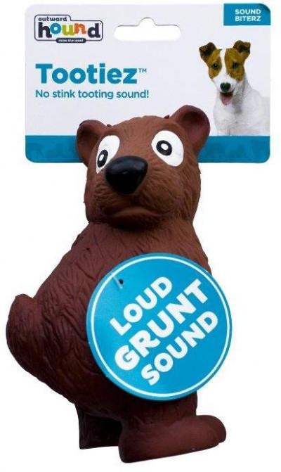 """-OH игрушка для собак Tootiez """"Медведь"""" латекс с пищалкой, 22 см"""