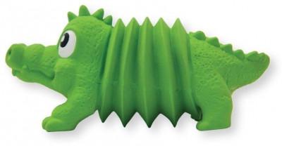 """-OH игрушка для собак Accordionz """"Крокодил"""" латекс с пищалкой арт.68093                      , 15 см"""