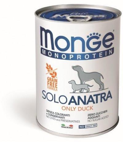 Monge Dog Monoprotein Solo консервы для собак паштет из утки 400г