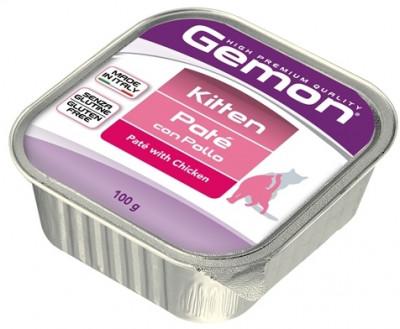 Gemon Cat консервы для котят паштет курица 100г