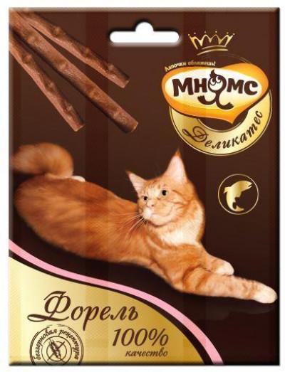 -Мнямс Деликатес лакомые палочки 9 см для кошек с форелью 3х4 г