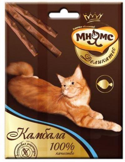 -Мнямс Деликатес лакомые палочки 9 см для кошек с камбалой 3х4 г