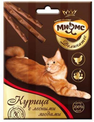 -Мнямс Деликатес лакомые палочки 9 см для кошек с курицей и лесными ягодами 3х4 г