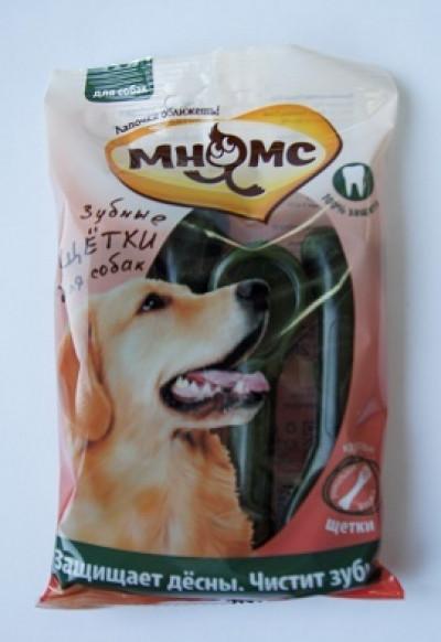 Мнямс Зубная щетка для собак круглая 4 шт. х 30 г