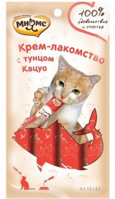 -Мнямс Крем-лакомство для кошек с тунцом Кацуо 15 г х 4 шт.