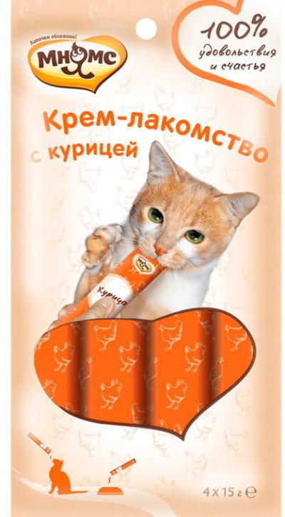 -Мнямс Крем-лакомство для кошек с курицей 15 г х 4 шт.