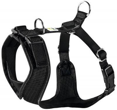 -Hunter шлейка для собак Manoa XS (35-41 см) нейлон/сетчатый текстиль черная