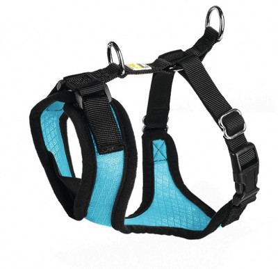 -Hunter шлейка для собак Manoa XS (35-41 см) нейлон/сетчатый текстиль голубой
