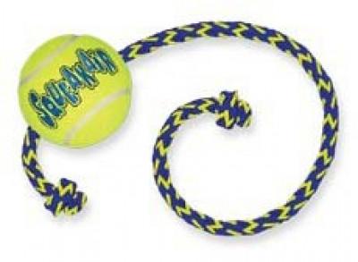 """-KONG игрушка для собак Air """"Теннисный мяч"""" с канатом средний"""