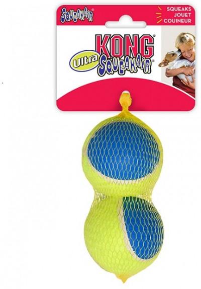 -KONG игрушка для собак Ultra Squeak мячик большой 2 шт. в уп. 8 см