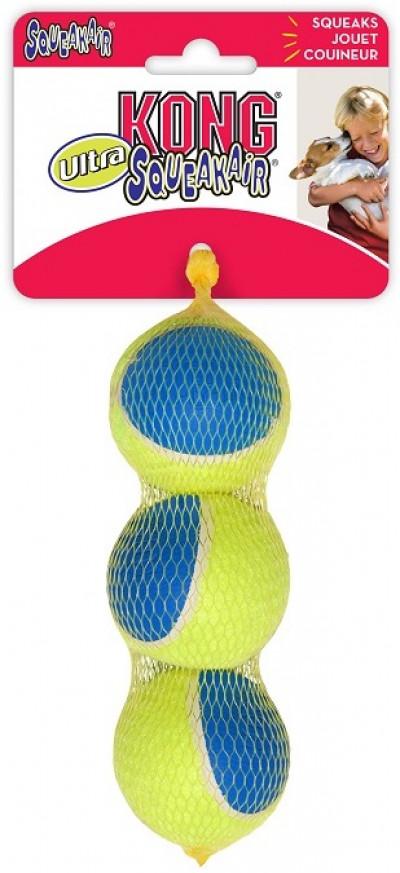-KONG игрушка для собак Ultra Squeak мячик средний 3 шт. в уп. 6 см