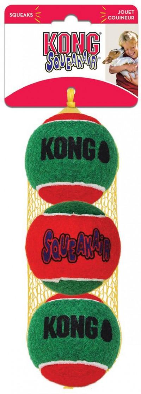 -KONG Holiday игрушка для собак Теннисный мячик 3 шт. средние 6 см