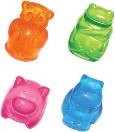-KONG игрушка для собак Сквиз Джелс 8 см средняя в ассортименте (бобер, бегемот, свинка, лягушка)