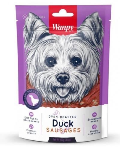 -Wanpy Dog лакомство утиные сосиски 100 г
