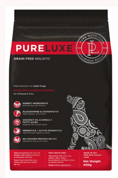 Pureluxe (Пурлюкс) сухой корм  для взрослых собак с ягненком и нутом, 400гр  арт.1709